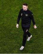 18 November 2019; Republic of Ireland assistant coach Robbie Keane ahead of the UEFA EURO2020 Qualifier - Group D match between Republic of Ireland and Denmark at Aviva Stadium in Dublin. Photo by Ben McShane/Sportsfile