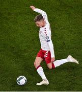 18 November 2019; Jens Stryger Larsen of Denmark during the UEFA EURO2020 Qualifier - Group D match between Republic of Ireland and Denmark at Aviva Stadium in Dublin. Photo by Ben McShane/Sportsfile