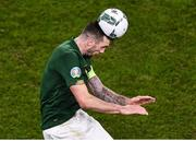 18 November 2019; Shane Duffy of Republic of Ireland during the UEFA EURO2020 Qualifier - Group D match between Republic of Ireland and Denmark at Aviva Stadium in Dublin. Photo by Ben McShane/Sportsfile