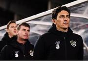 19 November 2019; Republic of Ireland assistant coach Keith Andrews during the UEFA European U21 Championship Qualifier match between Republic of Ireland and Sweden at Tallaght Stadium in Tallaght, Dublin. Photo by Stephen McCarthy/Sportsfile