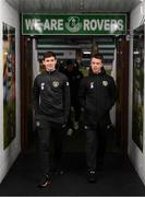 19 November 2019; Thomas O'Connor, left, and Jack Clarke of Republic of Ireland during the UEFA European U21 Championship Qualifier match between Republic of Ireland and Sweden at Tallaght Stadium in Tallaght, Dublin. Photo by Stephen McCarthy/Sportsfile