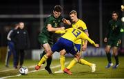 19 November 2019; Thomas O'Connor of Republic of Ireland and John Bjorkengren of Sweden during the UEFA European U21 Championship Qualifier match between Republic of Ireland and Sweden at Tallaght Stadium in Tallaght, Dublin. Photo by Stephen McCarthy/Sportsfile