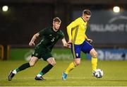19 November 2019; Viktor Gyokeres of Sweden and Nathan Collins of Republic of Ireland during the UEFA European U21 Championship Qualifier match between Republic of Ireland and Sweden at Tallaght Stadium in Tallaght, Dublin. Photo by Stephen McCarthy/Sportsfile