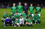 19 November 2019; Republic of Ireland team, back row, from left, Finn Cowper Gray, Cathal Heffernan, Conor Walsh, Luke O'Brien and Gideon Tetteh, front row, from left, Sam Curtis, Adam Murphy, Justin Ferizaj, James McManus Caden McLaughlin and Kevin Zeffi during the U15 International Friendly match between Republic of Ireland and Poland at Eamonn Deacy Park in Galway. Photo by Seb Daly/Sportsfile