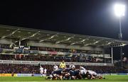 22 November 2019; A general view of a scrum during the Heineken Champions Cup Pool 3 Round 2 match between Ulster and ASM Clermont Auvergne at the Kingspan Stadium in Belfast. Photo by Sam Barnes/Sportsfile