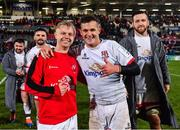 22 November 2019; David Shanahan and Billy Burns of Ulster following the Heineken Champions Cup Pool 3 Round 2 match between Ulster and ASM Clermont Auvergne at the Kingspan Stadium in Belfast. Photo by Sam Barnes/Sportsfile