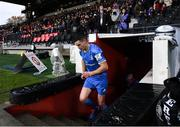23 November 2019; Jonathan Sexton of Leinster leads his team out prior to the Heineken Champions Cup Pool 1 Round 2 match between Lyon and Leinster at Matmut Stadium in Lyon, France. Photo by Ramsey Cardy/Sportsfile