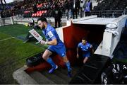 23 November 2019; Robbie Henshaw of Leinster runs out prior to the Heineken Champions Cup Pool 1 Round 2 match between Lyon and Leinster at Matmut Stadium in Lyon, France. Photo by Ramsey Cardy/Sportsfile