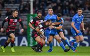 23 November 2019; Thibaut Regard of Lyon is tackled by Robbie Henshaw of Leinster during the Heineken Champions Cup Pool 1 Round 2 match between Lyon and Leinster at Matmut Stadium in Lyon, France. Photo by Ramsey Cardy/Sportsfile