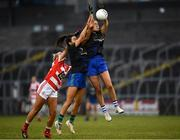 23 November 2019; Kate Kenny of Naomh Ciaran supported by Amy Gavin Mangan of Naomh Ciaran wins a high ball against Aine Tubridy of Naomh Pól during the All-Ireland Ladies Intermediate Club Championship Final match between Naomh Ciaran and Naomh Pól at Kingspan Breffni in Cavan. Photo by Harry Murphy/Sportsfile
