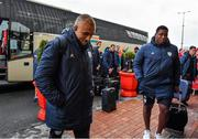 23 November 2019; Simon Zebo of Racing 92 arrives prior to the Heineken Champions Cup Pool 4 Round 2 match between Munster and Racing 92 at Thomond Park in Limerick. Photo by Brendan Moran/Sportsfile