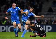 23 November 2019; Rob Kearney of Leinster is tackled by Baptiste Couilloud of Lyon during the Heineken Champions Cup Pool 1 Round 2 match between Lyon and Leinster at Matmut Stadium in Lyon, France. Photo by Ramsey Cardy/Sportsfile