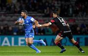 23 November 2019; Rob Kearney of Leinster in action against Xavier Mignot of Lyon during the Heineken Champions Cup Pool 1 Round 2 match between Lyon and Leinster at Matmut Stadium in Lyon, France. Photo by Ramsey Cardy/Sportsfile
