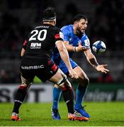 23 November 2019; Robbie Henshaw of Leinster in action against Loann Goujon of Lyon during the Heineken Champions Cup Pool 1 Round 2 match between Lyon and Leinster at Matmut Stadium in Lyon, France. Photo by Ramsey Cardy/Sportsfile