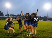 23 November 2019; Naomh Ciaran players, including Amy Gavin Mangan, centre, celebrate following the All-Ireland Ladies Intermediate Club Championship Final match between Naomh Ciaran and Naomh Pól at Kingspan Breffni in Cavan. Photo by Harry Murphy/Sportsfile