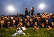 23 November 2019; Naomh Ciaran players celebrate with the trophy following the All-Ireland Ladies Intermediate Club Championship Final match between Naomh Ciaran and Naomh Pól at Kingspan Breffni in Cavan. Photo by Harry Murphy/Sportsfile