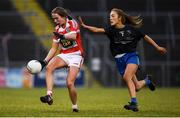 23 November 2019; Niamh Enright of Naomh Pól in action against Ffion Boland of Naomh Ciaran during the All-Ireland Ladies Intermediate Club Championship Final match between Naomh Ciaran and Naomh Pól at Kingspan Breffni in Cavan. Photo by Harry Murphy/Sportsfile