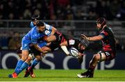 23 November 2019; Jonathan Wisniewski of Lyon is tackled by Jamison Gibson-Park of Leinster during the Heineken Champions Cup Pool 1 Round 2 match between Lyon and Leinster at Matmut Stadium in Lyon, France. Photo by Ramsey Cardy/Sportsfile