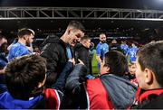 23 November 2019; Leinster captain Jonathan Sexton signs autographs following the Heineken Champions Cup Pool 1 Round 2 match between Lyon and Leinster at Matmut Stadium in Lyon, France. Photo by Ramsey Cardy/Sportsfile