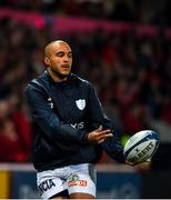 23 November 2019; Simon Zebo of Racing 92 warms up prior to the Heineken Champions Cup Pool 4 Round 2 match between Munster and Racing 92 at Thomond Park in Limerick. Photo by Diarmuid Greene/Sportsfile