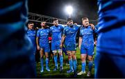 23 November 2019; Leinster players, from left, Tadhg Furlong, Rob Kearney, Josh Murphy, Max Deegan and James Tracy following the Heineken Champions Cup Pool 1 Round 2 match between Lyon and Leinster at Matmut Stadium in Lyon, France. Photo by Ramsey Cardy/Sportsfile