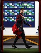 23 November 2019; Conor Murray of Munster arrives for the Heineken Champions Cup Pool 4 Round 2 match between Munster and Racing 92 at Thomond Park in Limerick. Photo by Diarmuid Greene/Sportsfile