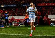 23 November 2019; Simon Zebo of Racing 92 leads out his team ahead of the Heineken Champions Cup Pool 4 Round 2 match between Munster and Racing 92 at Thomond Park in Limerick. Photo by Sam Barnes/Sportsfile