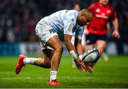23 November 2019; Simon Zebo of Racing 92 during the Heineken Champions Cup Pool 4 Round 2 match between Munster and Racing 92 at Thomond Park in Limerick. Photo by Diarmuid Greene/Sportsfile