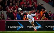 23 November 2019; Simon Zebo of Racing 92 during the Heineken Champions Cup Pool 4 Round 2 match between Munster and Racing 92 at Thomond Park in Limerick. Photo by Brendan Moran/Sportsfile