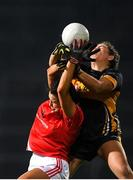 23 November 2019; Ailish Morrissey of Kilkerrin-Clonberne is tackled by Aisling O'Sullivan of Mourneabbey during the All-Ireland Ladies Senior Club Championship Final match between Kilkerrin-Clonberne and Mourneabbey at LIT Gaelic Grounds in Limerick. Photo by Eóin Noonan/Sportsfile