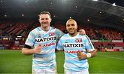 23 November 2019; Simon Zebo, right, and Donnacha Ryan of Racing 92 after the Heineken Champions Cup Pool 4 Round 2 match between Munster and Racing 92 at Thomond Park in Limerick. Photo by Brendan Moran/Sportsfile