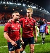 23 November 2019; Alby Mathewson with Mike Haley of Munster after the Heineken Champions Cup Pool 4 Round 2 match between Munster and Racing 92 at Thomond Park in Limerick. Photo by Diarmuid Greene/Sportsfile