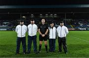 23 November 2019; Referee Anthony Nolan and his umpires before the AIB Leinster GAA Football Senior Club Championship Semi-Final match between Portlaoise and Éire Óg at MW Hire O'Moore Park in Portlaoise, Co Laois. Photo by Piaras Ó Mídheach/Sportsfile