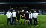23 November 2019; Referee Anthony Nolan and his officials before the AIB Leinster GAA Football Senior Club Championship Semi-Final match between Portlaoise and Éire Óg at MW Hire O'Moore Park in Portlaoise, Co Laois. Photo by Piaras Ó Mídheach/Sportsfile