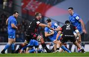 23 November 2019; Garry Ringrose of Leinster is tackled by Hendrik Roodt of Lyon during the Heineken Champions Cup Pool 1 Round 2 match between Lyon and Leinster at Matmut Stadium in Lyon, France. Photo by Ramsey Cardy/Sportsfile