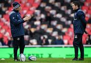 23 November 2019; Leinster backs coach Felipe Contepomi, left, in conversation with Leinster Rugby operations Manager Ronan O'Donnell ahead of the Heineken Champions Cup Pool 1 Round 2 match between Lyon and Leinster at Matmut Stadium in Lyon, France. Photo by Ramsey Cardy/Sportsfile
