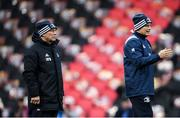 23 November 2019; Leinster kit man Johnny O'Hagan, left, and Leinster backs coach Felipe Contepomi ahead of the Heineken Champions Cup Pool 1 Round 2 match between Lyon and Leinster at Matmut Stadium in Lyon, France. Photo by Ramsey Cardy/Sportsfile