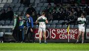 23 November 2019; Kieran Lillis of Portlaoise leaves the field after he was sent off by referee Patrick Maguire during the AIB Leinster GAA Football Senior Club Championship Semi-Final match between Portlaoise and Éire Óg at MW Hire O'Moore Park in Portlaoise, Co Laois. Photo by Piaras Ó Mídheach/Sportsfile