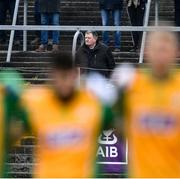 24 November 2019; A spectator stands for Amhrán na bhFiann before the AIB Connacht GAA Football Senior Club Football Championship Final match between Corofin and Pádraig Pearses at Tuam Stadium in Tuam, Galway. Photo by Piaras Ó Mídheach/Sportsfile