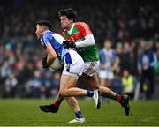 24 November 2019; Colm Basquel of Ballyboden St Endas in action against Matthew Guiheen of Garrycastle during the AIB Leinster GAA Football Senior Club Championship Semi-Final match between Garrycastle and Ballyboden St Endas at TEG Cusack Park in Mullingar, Westmeath. Photo by Ray McManus/Sportsfile