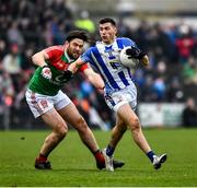 24 November 2019; Colm Basquel of Ballyboden St Endas in action against James Sheerin of Garrycastle during the AIB Leinster GAA Football Senior Club Championship Semi-Final match between Garrycastle and Ballyboden St Endas at TEG Cusack Park in Mullingar, Westmeath. Photo by Ray McManus/Sportsfile