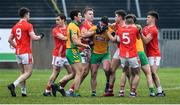 24 November 2019; Players from both sides tussle off the ball, in the first half, during the AIB Connacht GAA Football Senior Club Football Championship Final match between Corofin and Pádraig Pearses at Tuam Stadium in Tuam, Galway. Photo by Piaras Ó Mídheach/Sportsfile