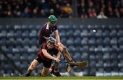 24 November 2019; Philip Mahony of Ballygunner is tackled by Conor Kenny of Boris-Ileigh during the AIB Munster GAA Hurling Senior Club Championship Final match between Ballygunner and Borris-Ileigh at Páirc Ui Rinn in Cork. Photo by Eóin Noonan/Sportsfile