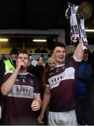 24 November 2019; Borris-Ileigh joint-captains Sean McCormack, left, and Conor Kenny lifting the cup following the AIB Munster GAA Hurling Senior Club Championship Final match between Ballygunner and Borris-Ileigh at Páirc Ui Rinn in Cork. Photo by Eóin Noonan/Sportsfile