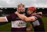 24 November 2019; Brendan Maher of Boris-Ileigh celebrates with team-mate Liam Ryan of Boris-Ileigh following the AIB Munster GAA Hurling Senior Club Championship Final match between Ballygunner and Borris-Ileigh at Páirc Ui Rinn in Cork. Photo by Eóin Noonan/Sportsfile