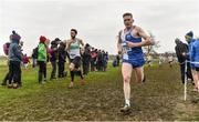 24 November 2019; Liam Brady of Tullamore Harriers A.C., Co. Offaly, right, on his way to winning the Senior Men's event during the Irish Life Health National Senior, Junior & Juvenile Even Age Cross Country Championships at the National Sports Campus Abbotstown in Dublin. Photo by Sam Barnes/Sportsfile