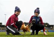24 November 2019; Eamon, left, and Patrick Grome with Borris-Ileigh team mascot Paddy the cockerel prior to the AIB Munster GAA Hurling Senior Club Championship Final match between Ballygunner and Borris-Ileigh at Páirc Ui Rinn in Cork. Photo by Eóin Noonan/Sportsfile