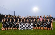 24 November 2019; Donoughmore players celebrate with the trophy following the All-Ireland Ladies Junior Club Championship Final match between Donoughmore and MacHale Rovers at Duggan Park in Ballinasloe, Co Galway. Photo by Harry Murphy/Sportsfile