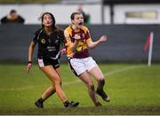 24 November 2019; Sinead Walsh of MacHale Rovers reacts to a missed shot at goal during the All-Ireland Ladies Junior Club Championship Final match between Donoughmore and MacHale Rovers at Duggan Park in Ballinasloe, Co Galway. Photo by Harry Murphy/Sportsfile