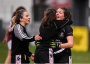 24 November 2019; Donoughmore players, Aoife Barrett, right, Leah Buckley, centre, and Leah Buckley, left following the All-Ireland Ladies Junior Club Championship Final match between Donoughmore and MacHale Rovers at Duggan Park in Ballinasloe, Co Galway. Photo by Harry Murphy/Sportsfile